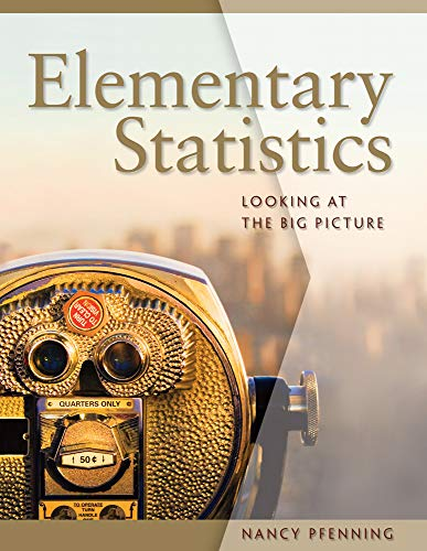 9780495016526: Elementary Statistics: Looking at the Big Picture (Available 2011 Titles Enhanced Web Assign)