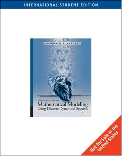 9780495018650: Introduction to Mathematical Modeling Using Discrete Dynamical Systems