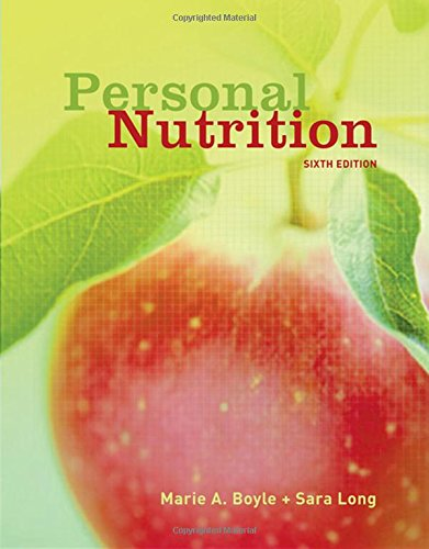 Personal Nutrition 9780495019343 PERSONAL NUTRITION, Sixth Edition is the most concise introductory nutrition textbook on the market. Twelve chapters in length, it is designed for use in quarter or semesters schools where the introductory nutrition course is consumer focused. It takes an applied approach to the introductory nutrition course. It begins with a look at Nutrition science, followed by basics of diet planning, and then moves through the energy nutrients, vitamins, and minerals. It also includes a separate chapter on alcohol, as well as separate chapters on weight management, life cycle nutrition, and food safety and world hunger. Each chapter in this text relates nutrition science directly to the students so they can understand and apply the information to their own lives.