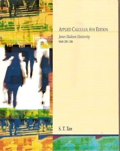 9780495041191: Applied Calculus (James Madison University)
