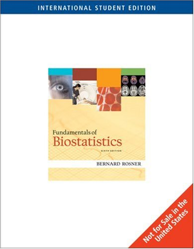 9780495064411: Fundamentals of Biostatistics