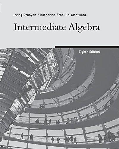 9780495078289: Intermediate Algebra Eighth Edition