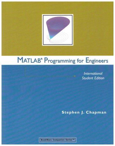 9780495082552: Matlab Programming for Engineers