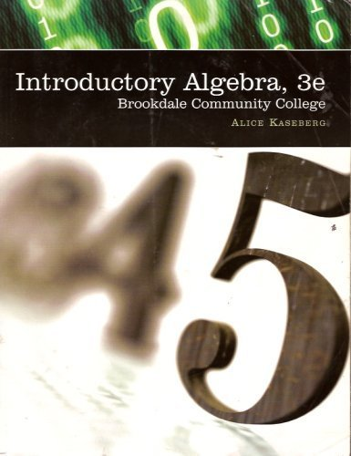 9780495082774: Introductory Algebra (Brookdale Community College)
