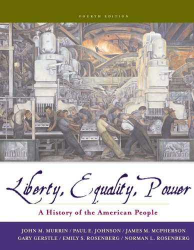 9780495091769: Liberty, Equality, and Power: A History of the American People (with CD-ROM) (Available Titles CengageNOW)