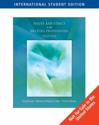 9780495092001: Issues and Ethics in the Helping Professions, 7th Edition