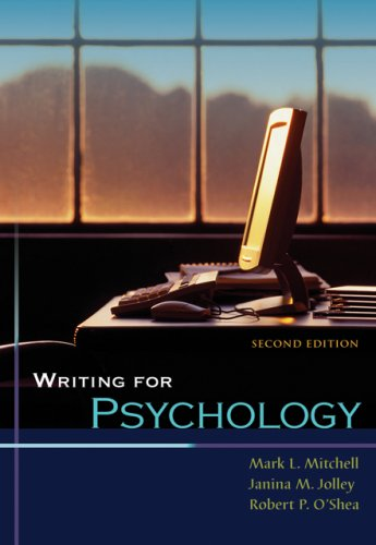9780495092063: Writing for Psychology