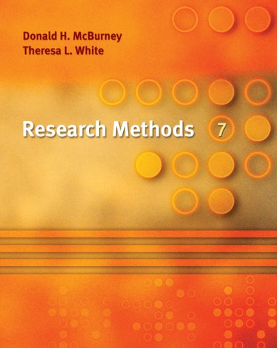 9780495092087: Research Methods, 7th Edition