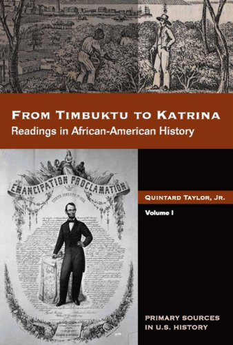 9780495092773: From Timbuktu to Katrina: Sources in African-American History, Volume 1