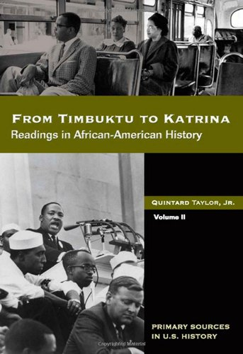 9780495092780: From Timbuktu to Katrina: Sources in African-American History Volume 2