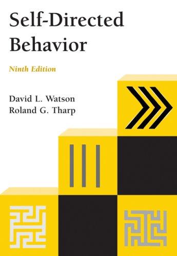 9780495093244: Self-Directed Behavior (PSY 103 Towards Self-Understanding)
