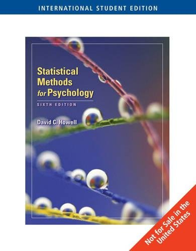 9780495093619: Statistical Methods for Psychology