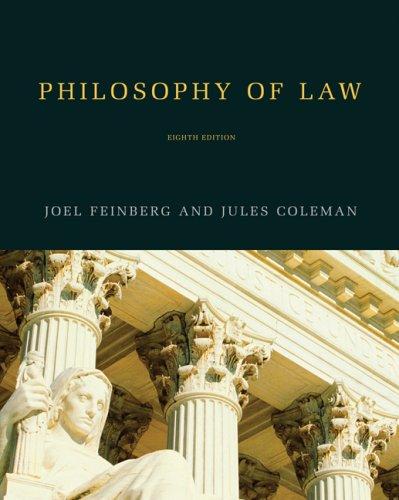 Philosophy of Law: Feinberg, Joel