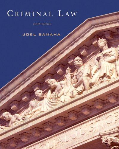 Criminal Law: Samaha, Joel