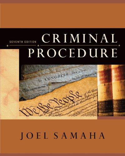 9780495095460: Criminal Procedure