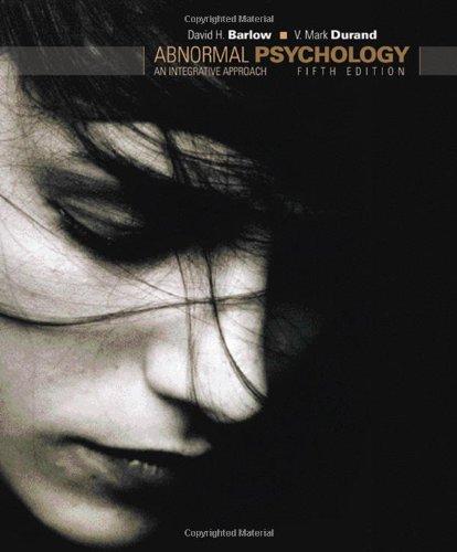 9780495095569: Abnormal Psychology: An Integrative Approach
