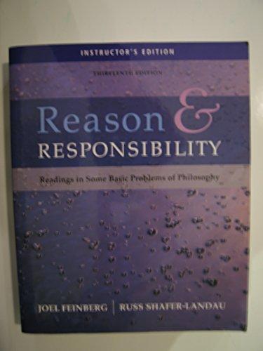 Reason & Responsibility Instructor's Editon: Feinberg, Joel