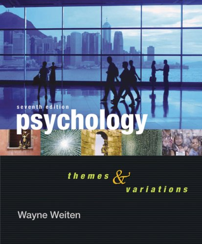 9780495097037: Psychology: Themes and Variations