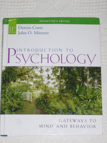 9780495097402: Introduction to Psychology - Gateways to Mind and Behavior - 11th. edition - text only