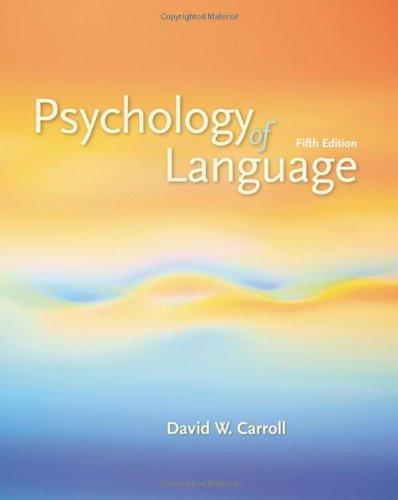 Psychology of Language: CARROLL