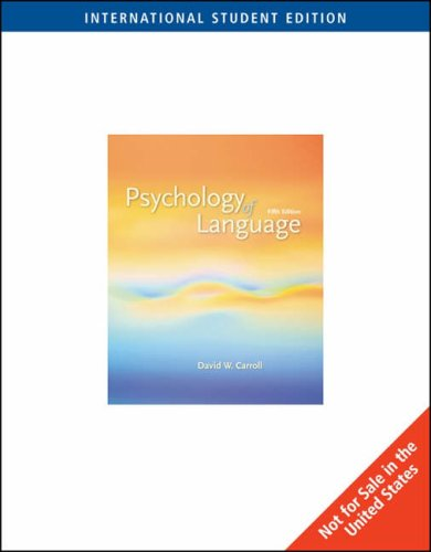9780495099710: Psychology of Language