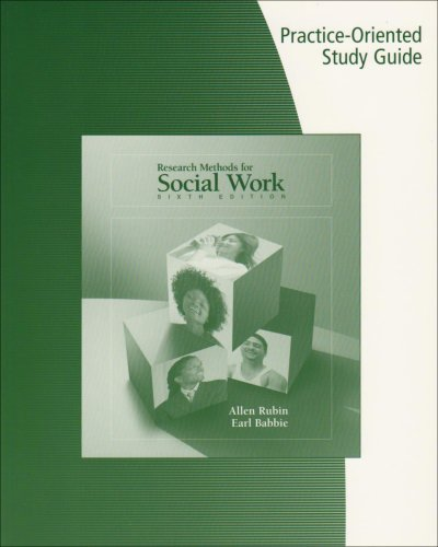 9780495100799: Study Guide for Rubin/Babbie's Research Methods for Social Work, 6th