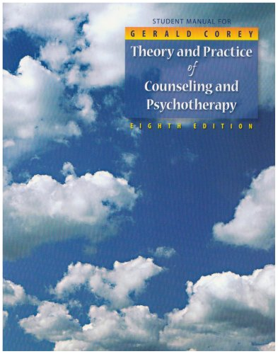9780495102090: Student Manual for Corey's Theory and Practice of Counseling and Psychotherapy, 8th