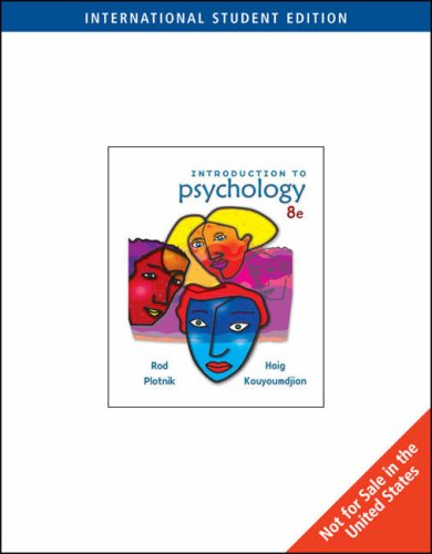 9780495103202: Introduction to Psychology (ISE)
