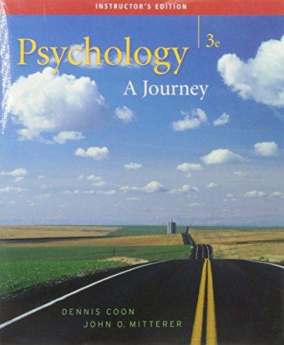 Psychology: A Journey 3rd Edition No CD: Dennis Coon and