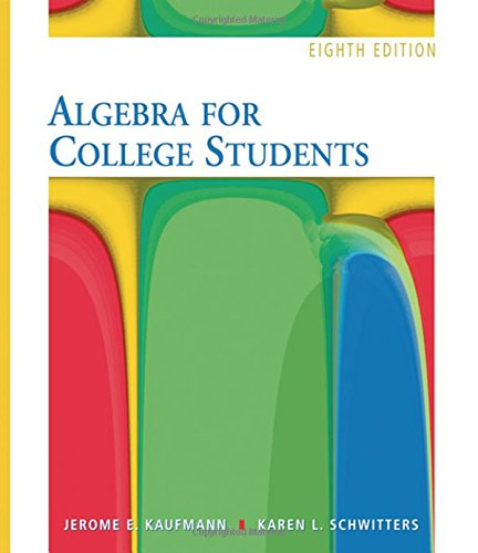 9780495105107: Algebra for College Students- 8th Edition (with Interactive Video Skillbuilder CD-ROM)
