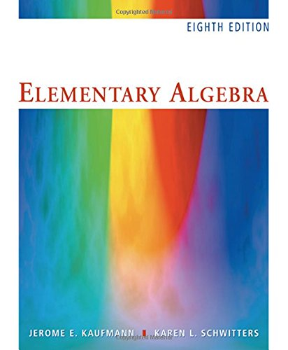 Elementary Algebra (with CD-ROM) - 8th Edition: Kaufmann, Jerome E.,