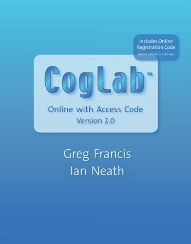 9780495107781: CogLab Online Version 2.0 (with Printed Access Card)
