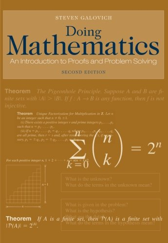 9780495108160: Doing Mathematics: An Introduction to Proofs and Problem-Solving