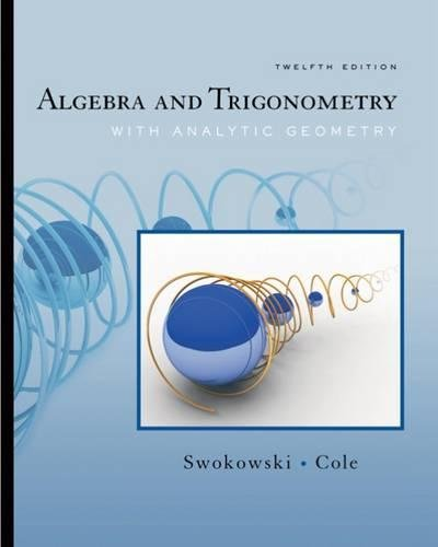 9780495108269: Algebra and Trigonometry with Analytic Geometry (with CengageNOW Printed Access Card) (Available Titles CengageNOW)