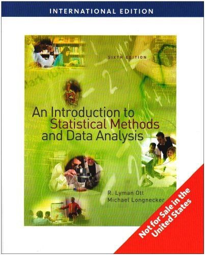 9780495109143: An Introduction to Statistical Methods and Data Analysis