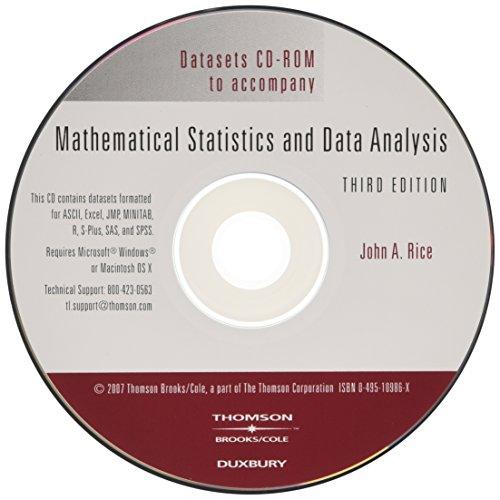 9780495109860: Mathematical Statistics and Data Analysis