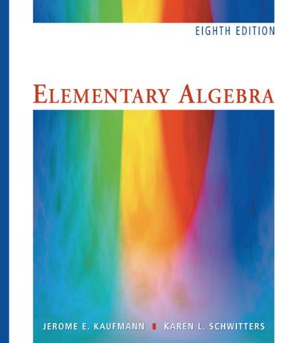 9780495109945: Elementary Algebra