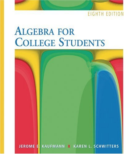 9780495109952: Algebra for College Students
