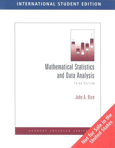 9780495110897: Mathematical Statistics and Data Analysis