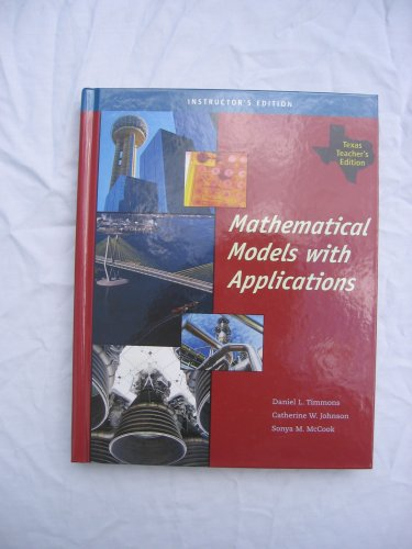 9780495113324: Mathematical Models With Applications, Texas Teacher's Edition