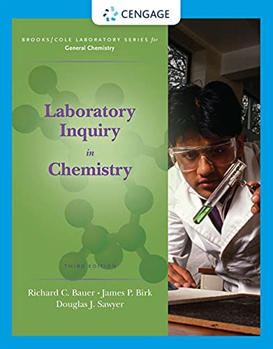 9780495113454: Laboratory Inquiry in Chemistry (Brooks / Cole Laboratory Series for General Chemistry)