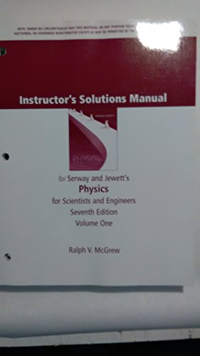 physics for scientists and engineers instructor s solutions manual rh abebooks com Serway Physics Solution Manual Serway Physics Solutions