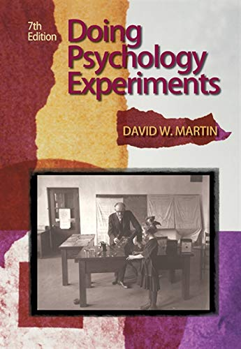 9780495115779: Doing Psychology Experiments, 7th Edition