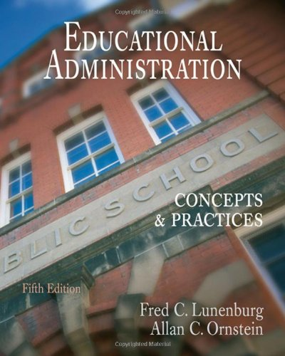 9780495115854: Educational Administration: Concepts and Practices