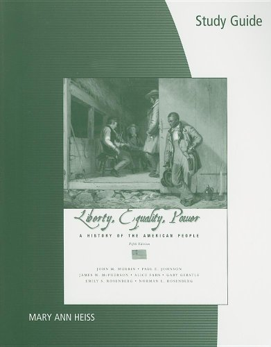 9780495116110: Study Guide for Murrin/Johnson/McPherson/Fahs/Gerstle/Rosenberg/Rosenberg's Liberty, Equality, and Power: A History of the American People, 5th