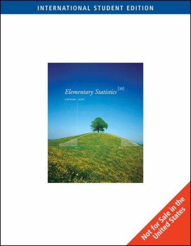 9780495118640: Elementary Statistics (International Student Edition) (International Student Edition)