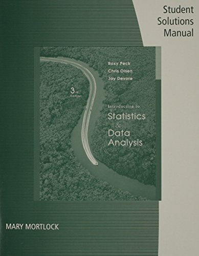 Student Solutions Manual for Peck/Olsen/Devore's Introduction to Statistics and Data Analysis, 3rd (0495118761) by Roxy Peck; Chris Olsen; Jay L. Devore