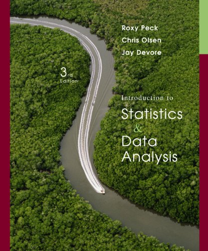 Introduction to Statistics and Data Analysis: Roxy Peck; Chris Olsen; Jay L. Devore