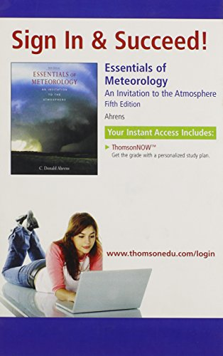 9780495119043: Essentials of Meteorology: An Invitation to the Atmosphere