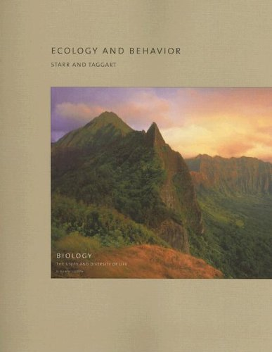 9780495125747: Ecology and Behavior (Biology: The Unity and Diversity of Life)